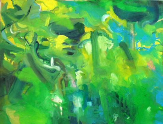 Śledzie w sosie greckim, olej na płótnie, 140 cm x 110 cm, 2013