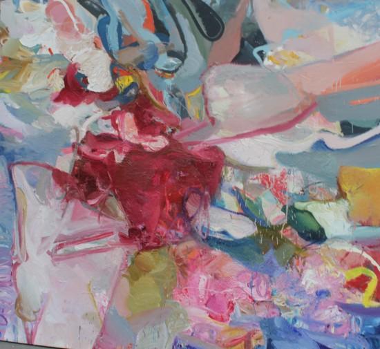 Flaczki wieprzowe, olej na płótnie, 200 cm x 180 cm, 2013