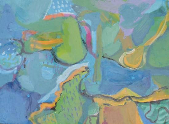 bez tytułu, gwasz, 45 cm x 32,5 cm, 2013