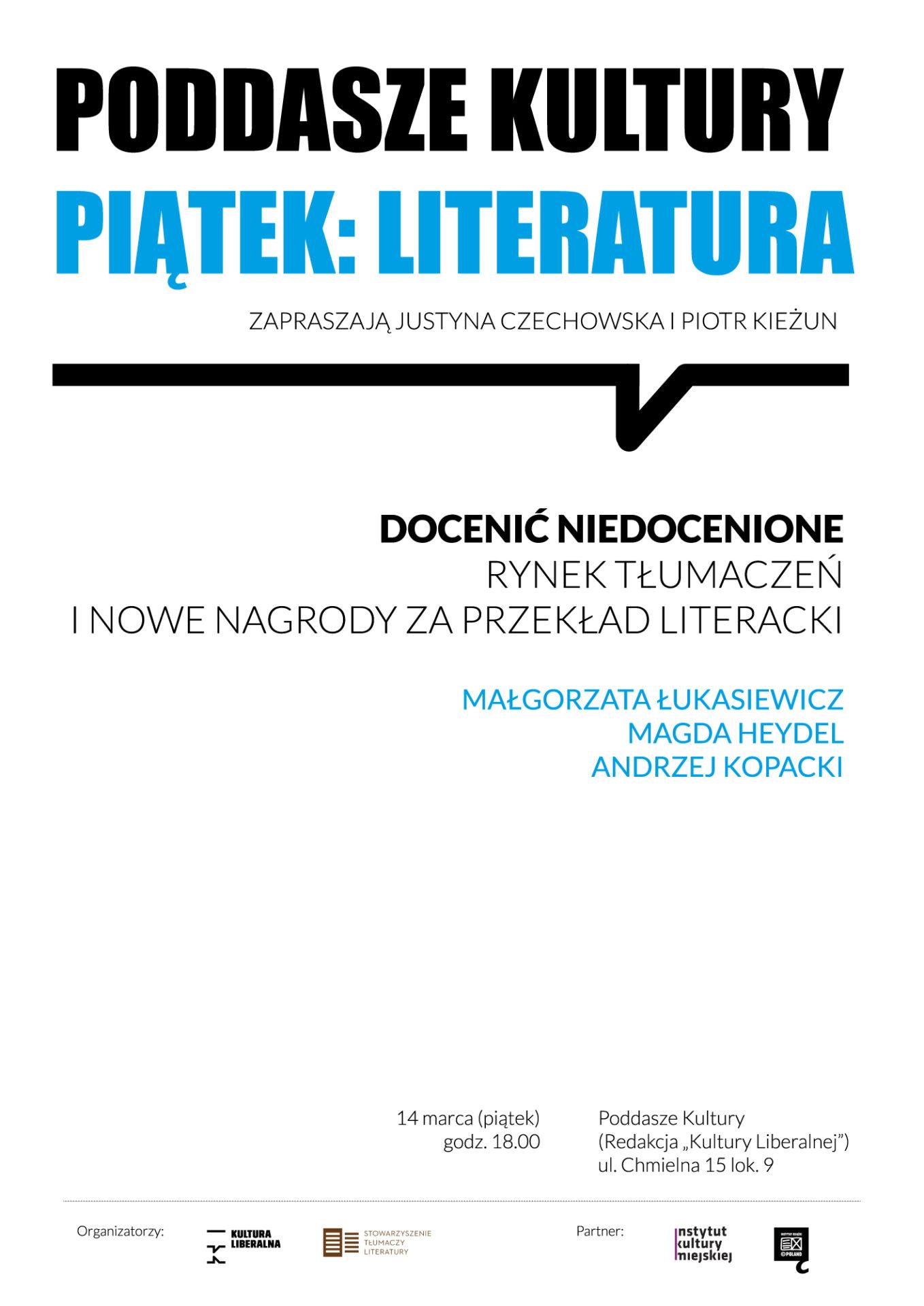 PIĄTEK-LITERATURA_tłumacze_marzec