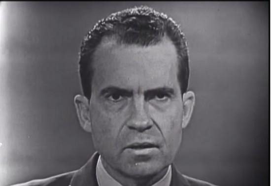 Nixon podczas debaty z Johnem Kennedym, 26 września 1960 r.