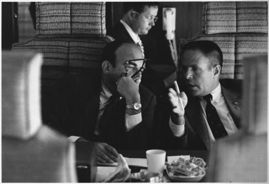 (od lewej) John Ehrlichman i Bob Haldeman, najbliżsi doradcy prezydenta Nixona