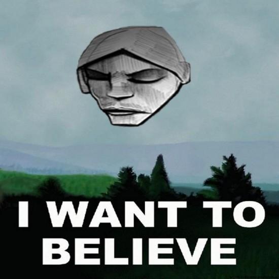 """Rys. społeczność na FB """"I believe Burial played Unsound"""""""