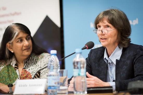 Shalini Randeria i Aleida Assmann. Fot. Jędrzej Sokołowski