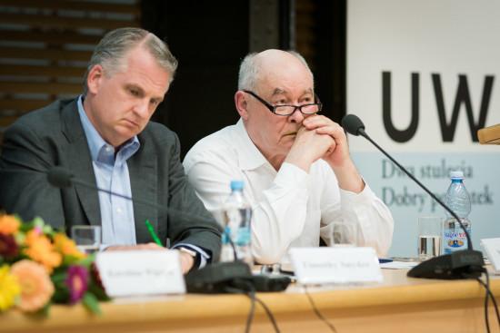 Timothy Snyder i Marcin Król. Fot. Jędrzej Sokołowski