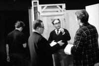"Maxa Frischa PODPIS: Max Frisch Podczas prób do ""Andorry"", Schauspielhaus Zürich. Fot. Jack Metzger. Źródło: Wikimedia Commons."
