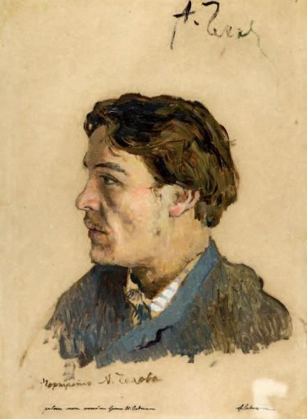 Portret Czechowa pędzla Izaaka Lewitana, 1885–1886