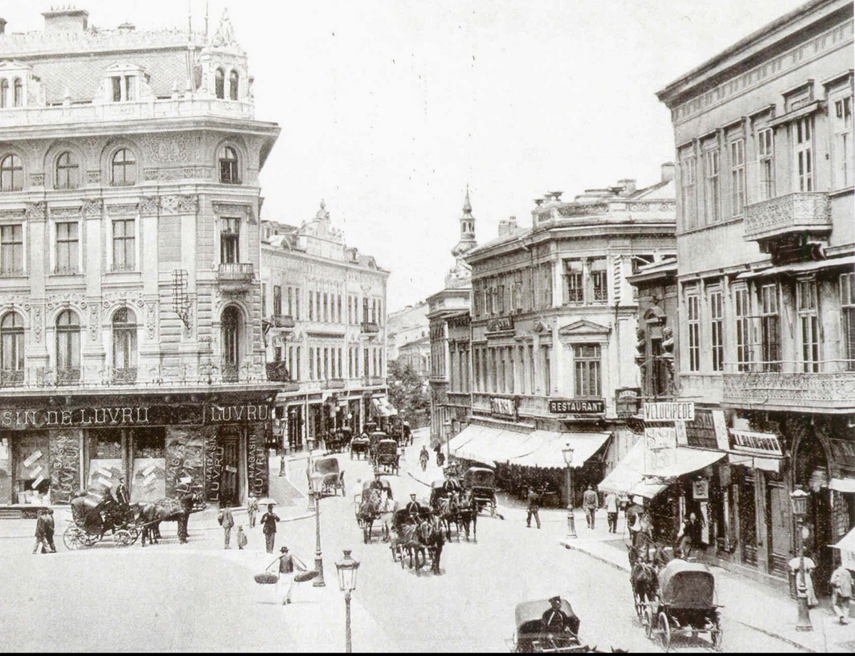 Bukareszt, Aleja Zwycięzców (Calea Victoriei), 1891.