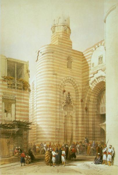 Brama Bab Zuweyleh, grafika Davida Robertsa, ok. 1840r. Źródło: Wikimedia Commons
