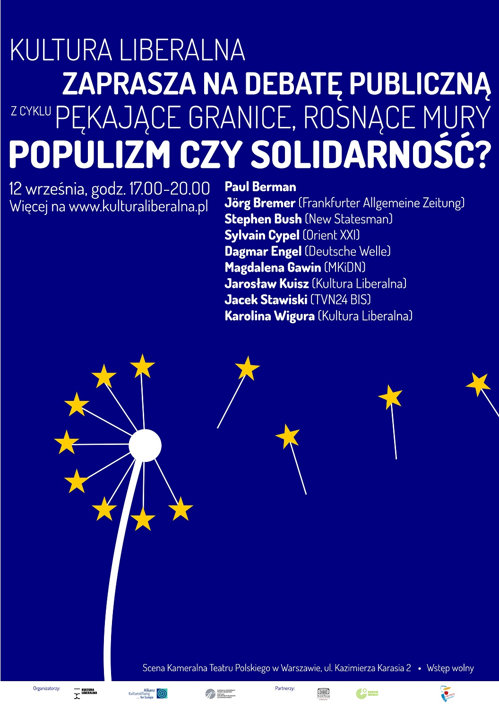 Plakat - Populizm czy solidarność