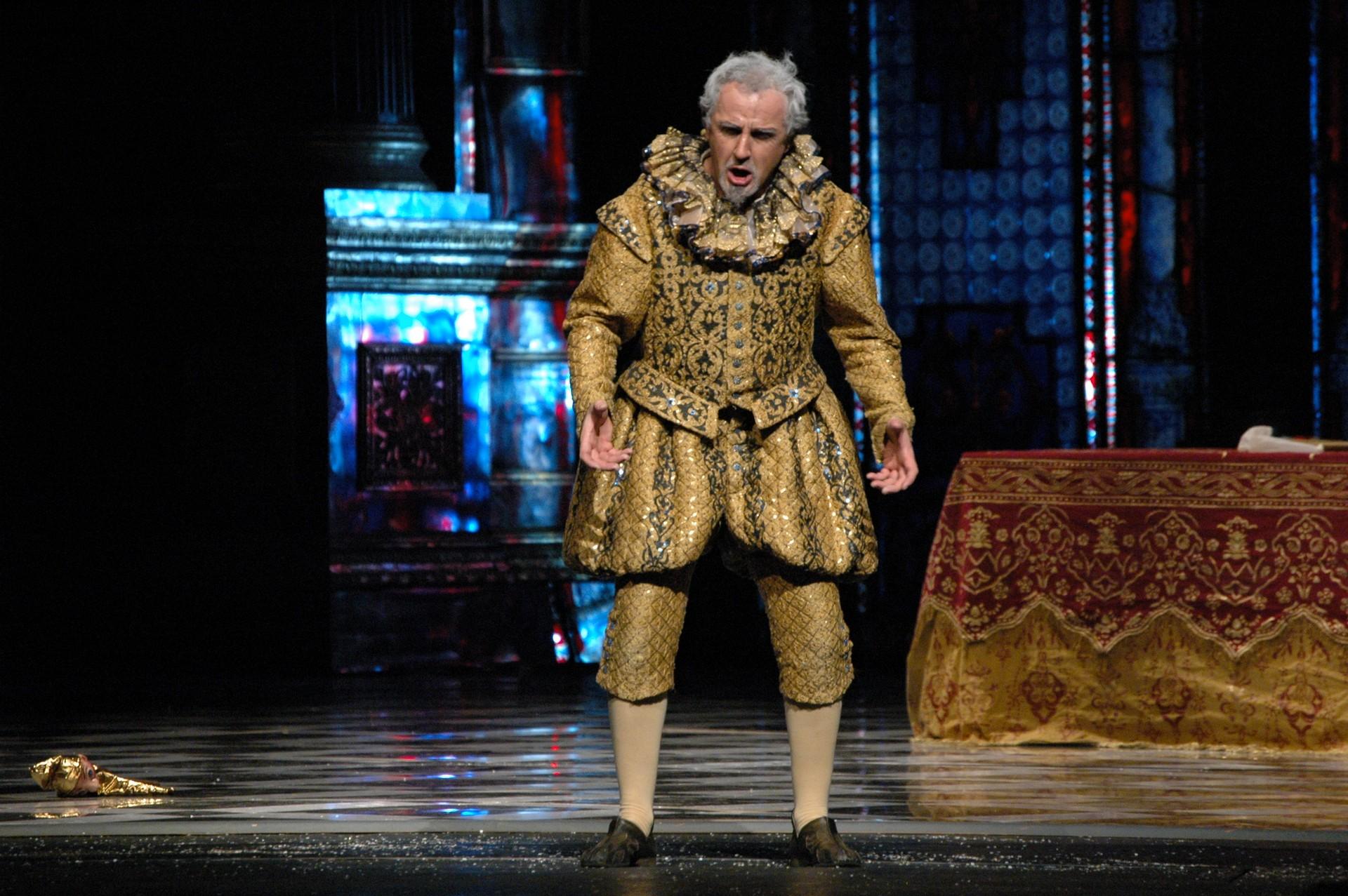 M. Zalasiński jako Rigoletto, foto. M.Gorecki.
