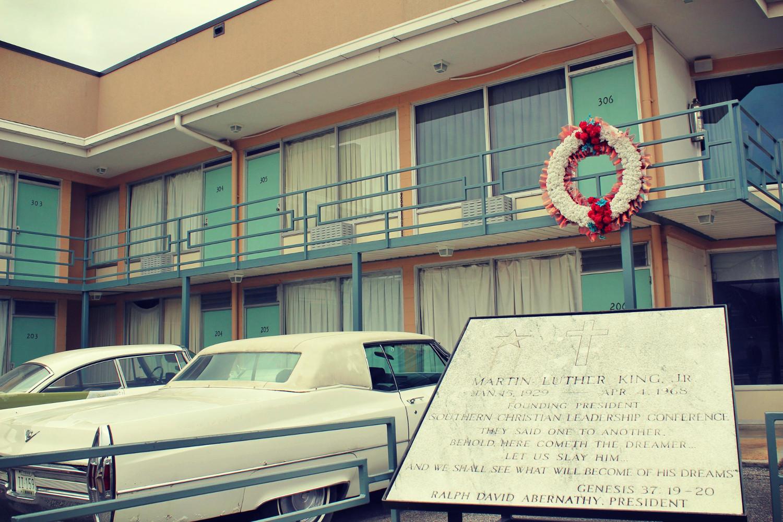 Pokój 306 w motelu Lorraine, przed którym zastrzelono Martina Luthera Kinga. Dziś w budynku mieści się National Civil Rights Museum. Fot. Łukasz Pawłowski.