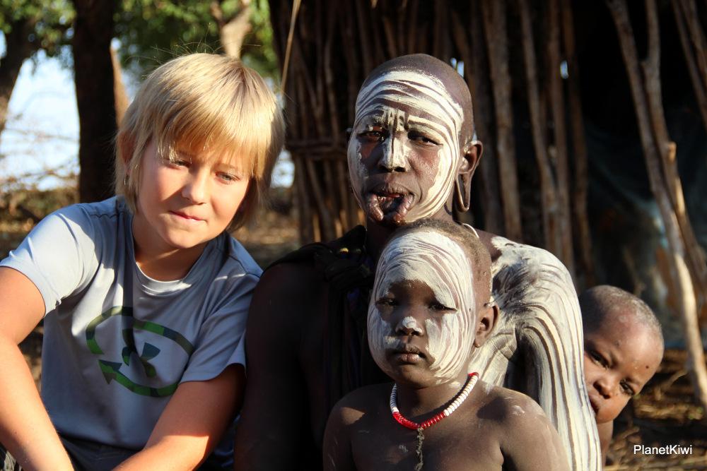 Etiopia, dolina Omo, plemię Mursi