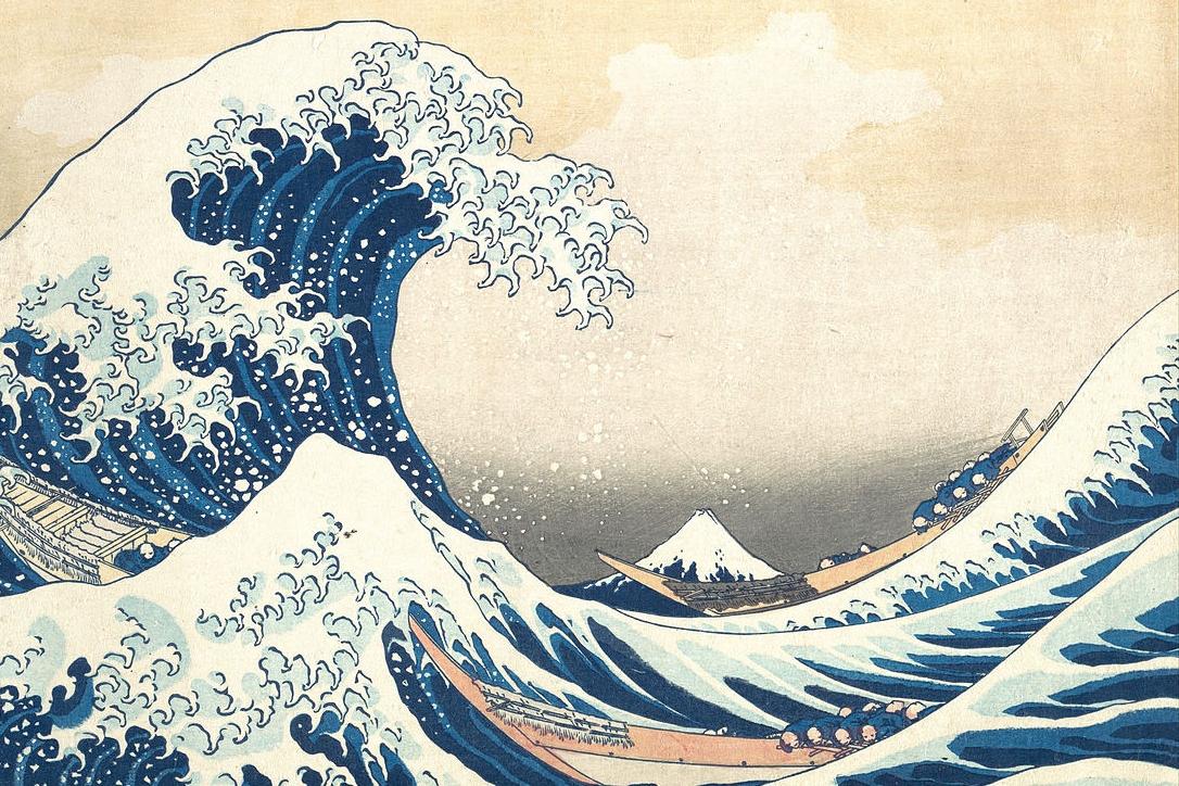 Ilustracja: Wielka fala w Kanagawie, Katsushika Hokusai, Wikimedia Commons.